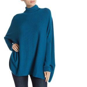 Joseph A. Turtleneck Oversized Sweater Boxy Blue